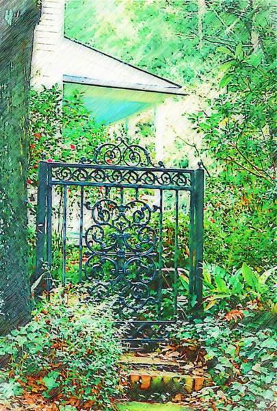 Photograph - Side Gate by Donna Bentley