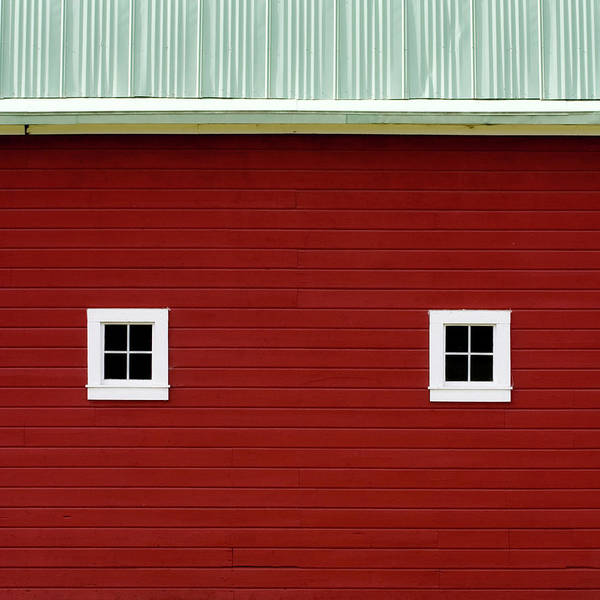 Red Roof Photograph - Side Of A Big Red Barn In The Palouse by Carol Leigh