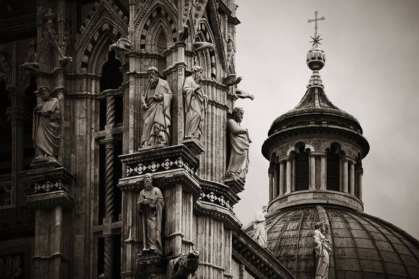 Photograph - Siena Cathedral Statue Dome by Songquan Deng