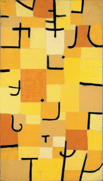 Painting - Signs In Yellow by Paul Klee