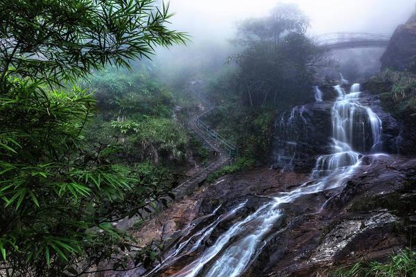 Laos Photograph - Silver Waterfall - Vietnam by Joana Kruse