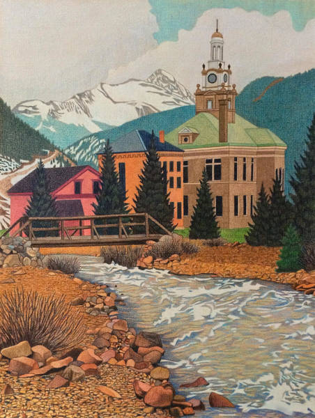 Evergreen Trees Drawing - Silverton Colorado by Dan Miller