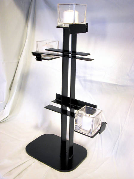Sculpture - Simple De Stijl Candle Holder  by John Gibbs