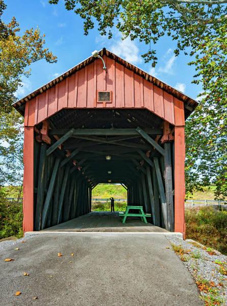 Wall Art - Photograph - Simpson Creek Covered Bridge by Steve Harrington