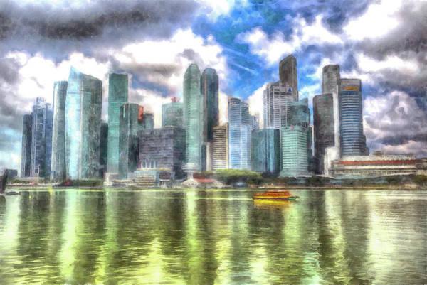 Wall Art - Photograph - Singapore Marina Bay Sands Art by David Pyatt