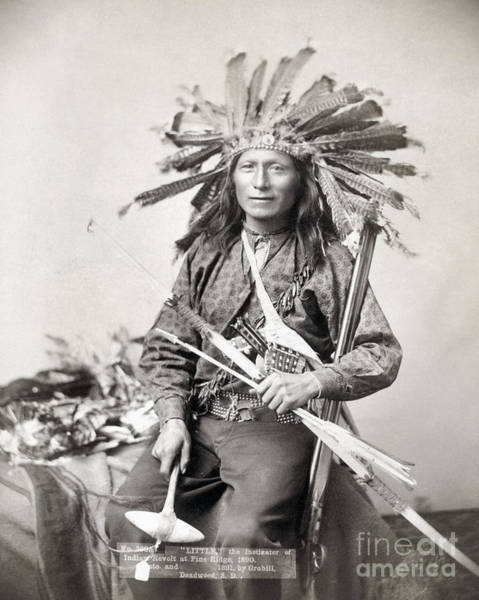 Photograph - Sioux Leader, 1891 by Granger