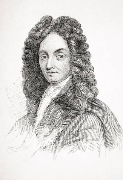 Wall Art - Drawing - Sir Christopher Wren 1632-1723. English by Vintage Design Pics