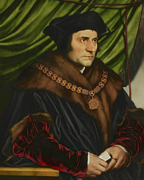 Painting - Sir Thomas More by Hans Holbein the Younger