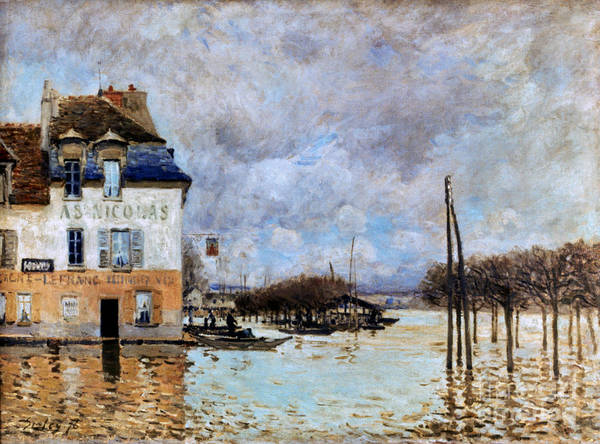 Photograph - Sisley: Flood, 1876 by Granger