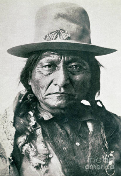 Wall Art - Photograph - Sitting Bull  by American School
