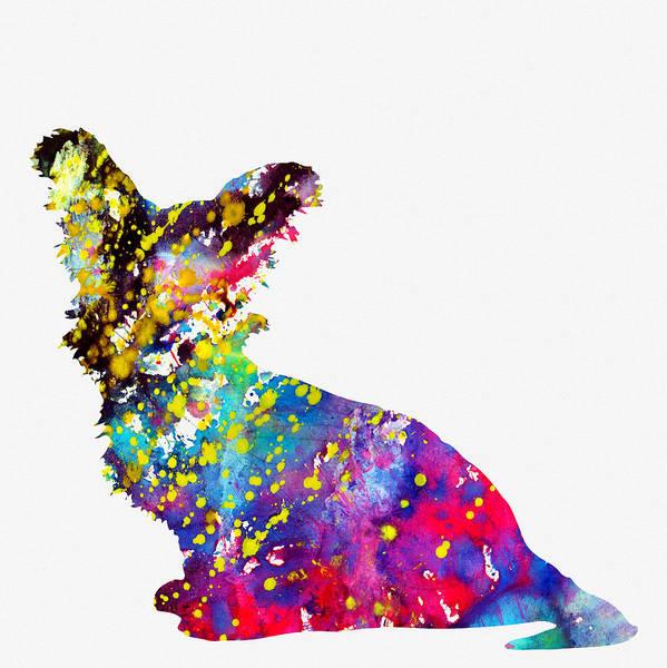 Terrier Digital Art - Skye Terrier-colorful by Erzebet S