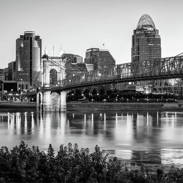 Photograph - Skyline Of Cincinnati Over The Ohio River  by Gregory Ballos