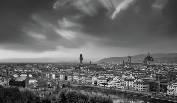 Outdoor Wall Art - Photograph - Skyline Of Florence City In Italy by Michalakis Ppalis