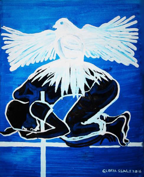 Slain In The Holy Spirit Art Print