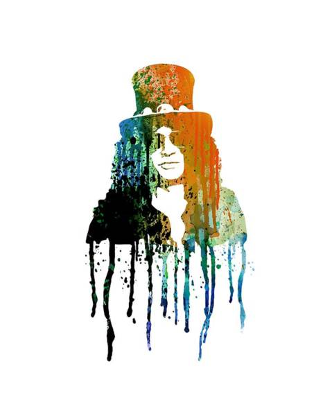 Guns And Roses Painting - Slash by Art Popop