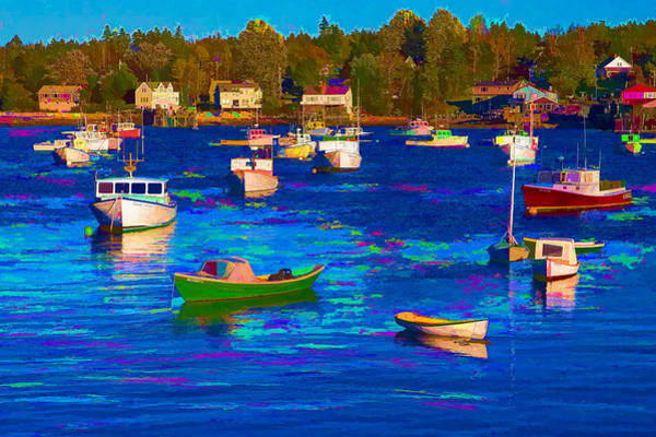 Digital Art - Sleeping Boats II by Jon Glaser