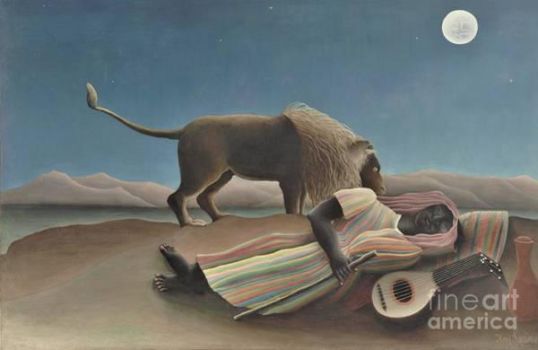 Wall Art - Painting - Sleeping Gypsy by Pg Reproductions