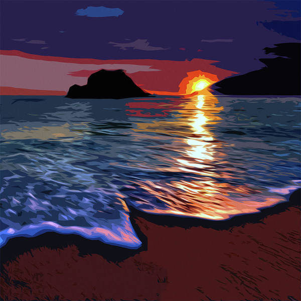 Painting - Sleeping Sun by Andrea Mazzocchetti