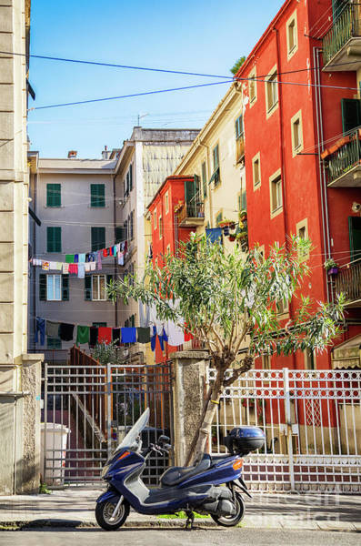 Photograph - small street in old town La Spezia, Italy by Ariadna De Raadt
