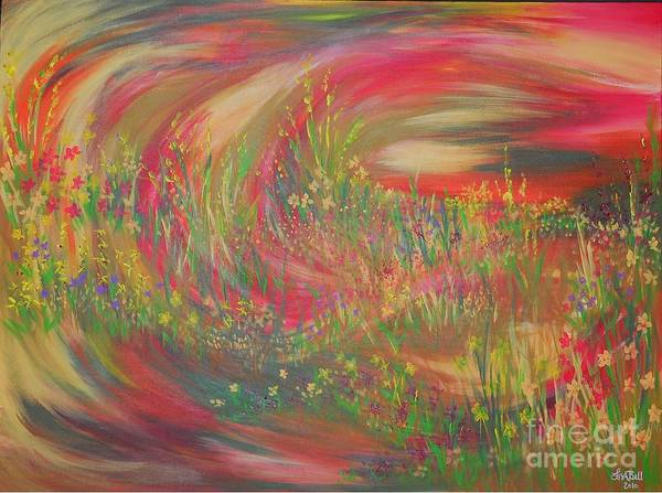 Wall Art - Painting - Smell The Flowers by Lisa Bell