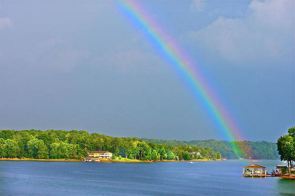 Photograph - Smith Mountain Lake Rainbow by The American Shutterbug Society