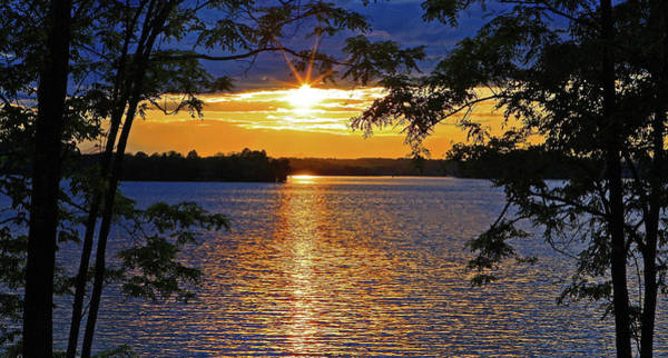 Photograph - Smith Mountain Lake Summer Sunet by The American Shutterbug Society