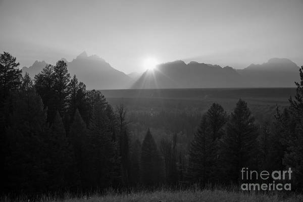 Moose Art Photograph - Snake River Sunset Bw by Michael Ver Sprill