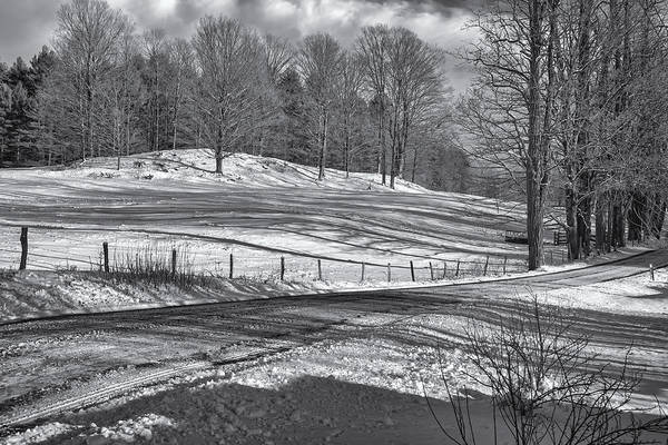 Photograph - Snow And Shadows by Tom Singleton