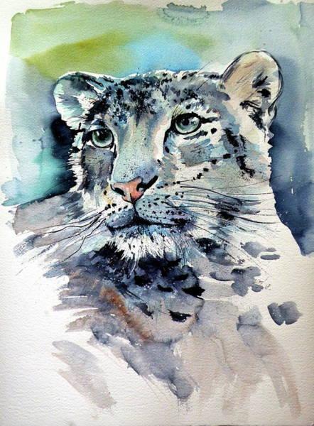 Wall Art - Painting - Snow Leopard by Kovacs Anna Brigitta
