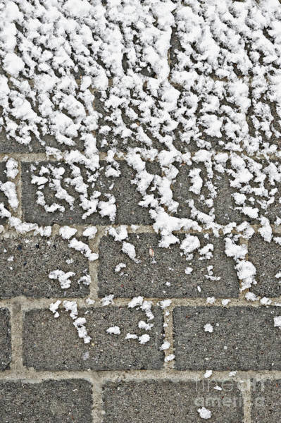 Wall Art - Photograph - Snow On A Wall  by Tom Gowanlock