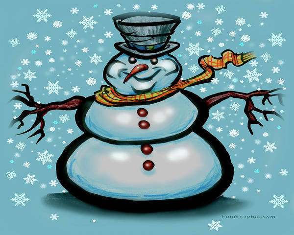Digital Art - Snowman by Kevin Middleton
