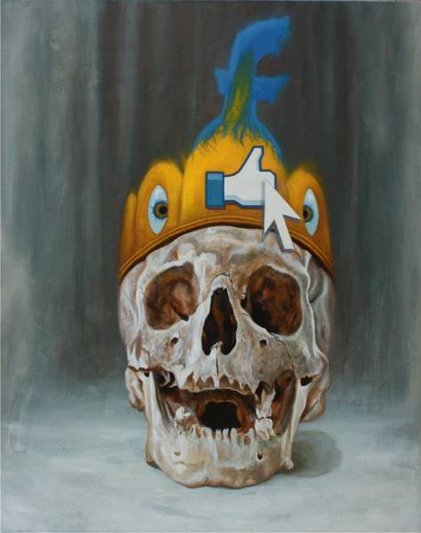 0 Painting - Social-ego  by Alessandro Bulgarini