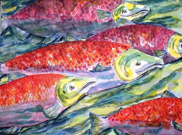 Wall Art - Painting - Sockeye Salmon by Jennifer Kwon