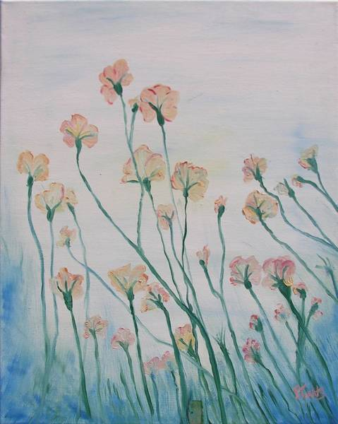 Blue Painting - Soft Breeze by Outside the door By Patt