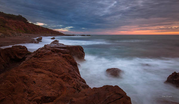 Photograph - Soft Evening Impact- Cambria by Tim Bryan
