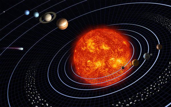 Digital Art - Solar System by Stocktrek Images