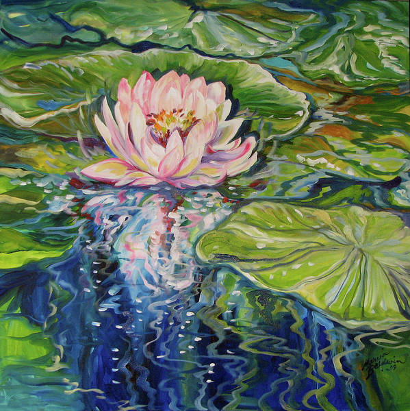 Painting - Solitude Waterlily by Marcia Baldwin