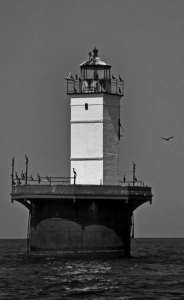 Wall Art - Photograph - Solomons Lump Lighthouse Md by Skip Willits