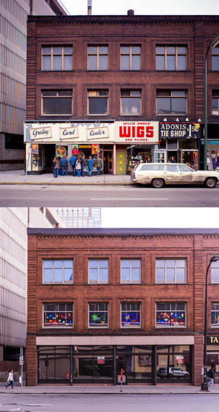 Photograph - Something's Going On At The Greeting Card Center. by Mike Evangelist