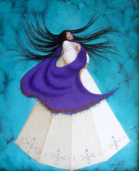 Native American Blanket Painting - Song Of My Heart by Karen Roncari