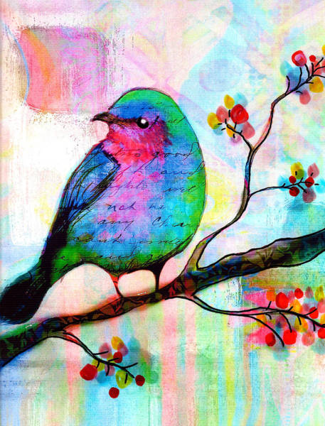 Bird In Tree Wall Art - Painting - Songbird by Robin Mead