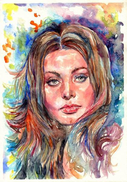 Nude Body Painting - Sophia Loren Painting by Suzann's Art
