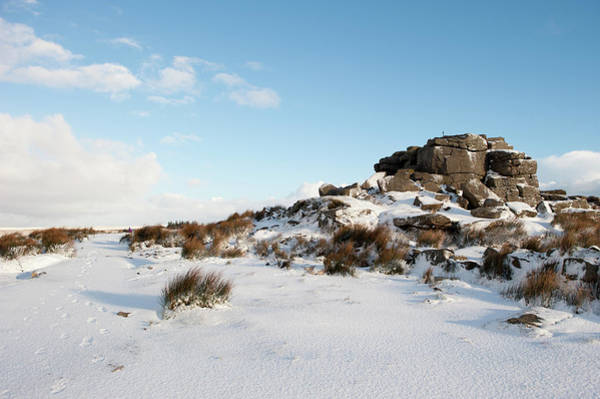 Photograph - South Hessary Tor In The Snow II by Helen Northcott