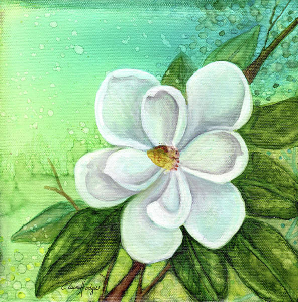 Wall Art - Painting - Southern Magnolia by Elaine Hodges