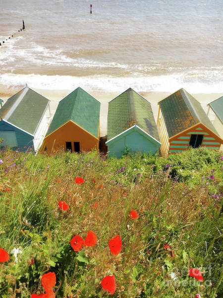 Wall Art - Photograph - Southwold Beach Huts by Tom Gowanlock