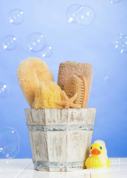 Bubble Bath Photograph - Spa Items by Amanda Elwell