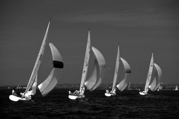 Photograph - Spinnaker Run by David Shuler