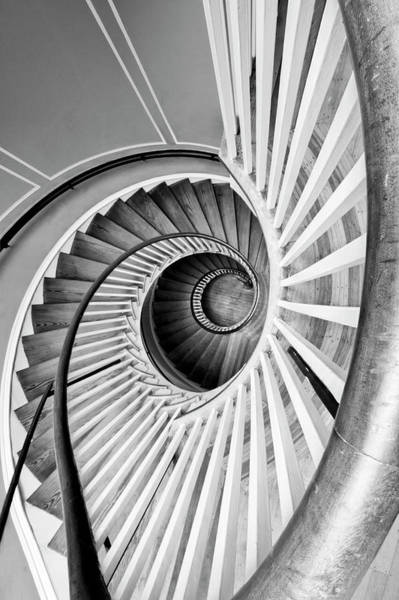 Wall Art - Photograph - Spiral Staircase Lowndes Grove by Dustin K Ryan