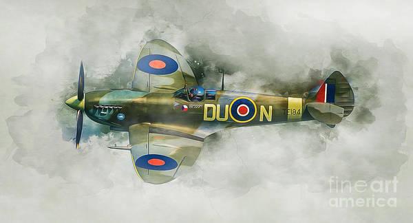 Engine Mixed Media - Spitfire by Ian Mitchell