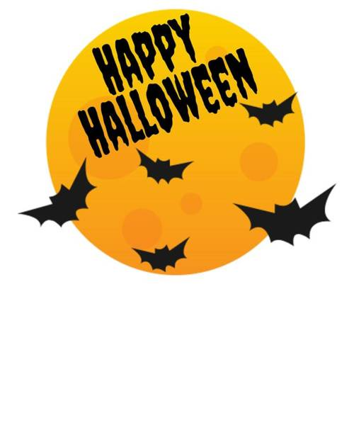Trick Or Treat Drawing - Spooky Happy Halloween Full Moon Vampire Bats by Kanig Designs